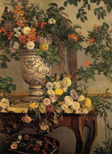 jean frederic bazille flowers painting
