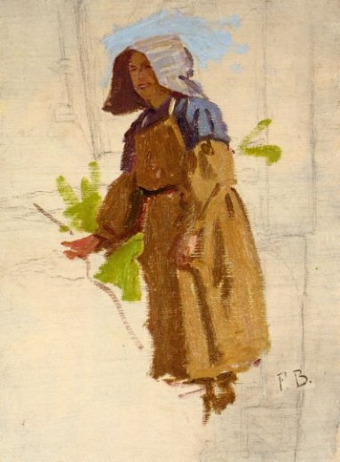 jean frederic bazille grape picker in a cap painting
