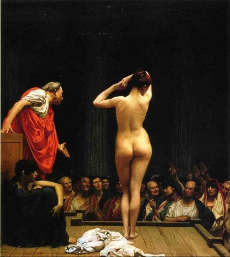 jean-leon gerome jean leon gerome selling slaves in rome paintings