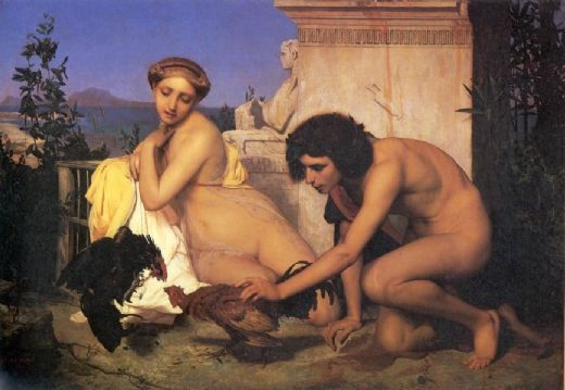 jean leon gerome the cock fight painting