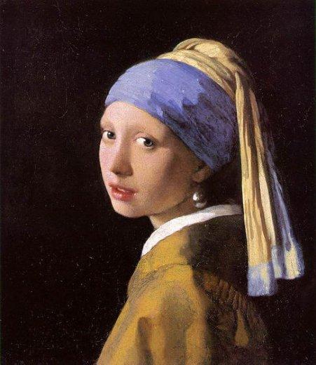 Johannes vermeer girl with a pearl earring iii painting for Johannes vermeer girl with a pearl earring