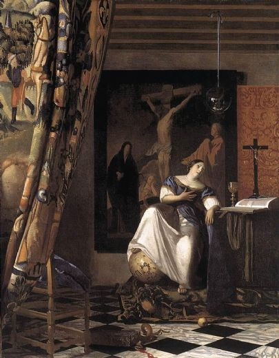 johannes vermeer the allegory of the faith paintings
