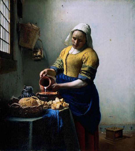 johannes vermeer the kitchen maid painting