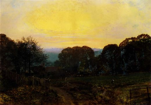 john atkinson grimshaw twilight the vegetable garden painting