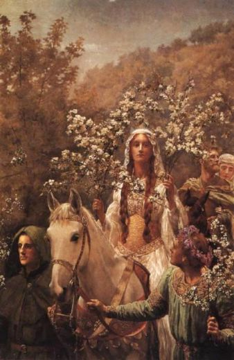 john collier guinevere s maying painting