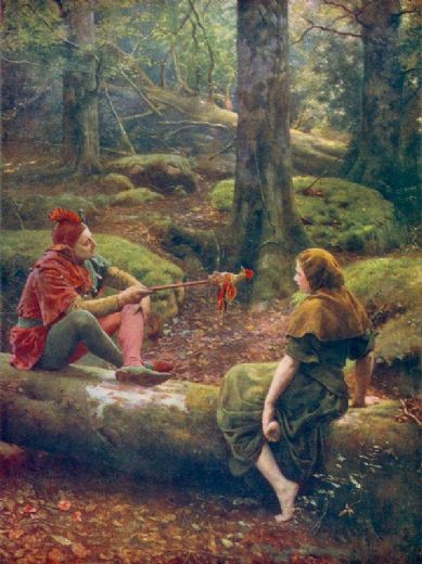 john collier in the forest of arden painting
