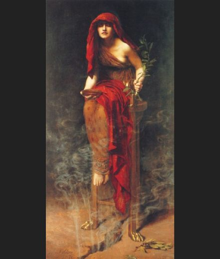 john collier priestess of delphi paintings