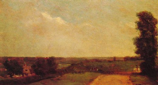 john constable view towards dedham painting