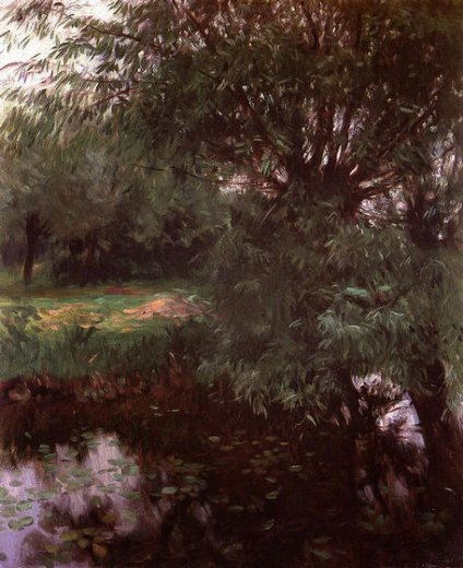 john singer sargent a backwater at wargrave paintings