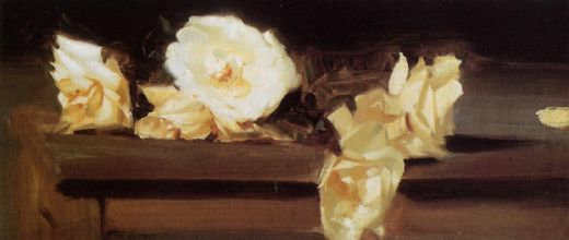 john singer sargent roses paintings
