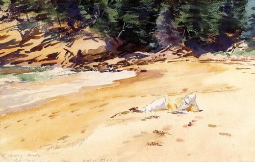 john singer sargent sand beach schooner head maine paintings