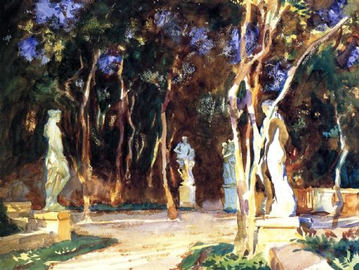 john singer sargent shady paths painting