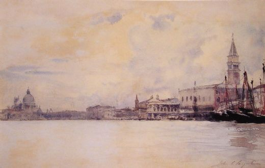 john singer sargent the entrance to the grand canal venice paintings