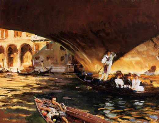 john singer sargent the rialto grand canal paintings