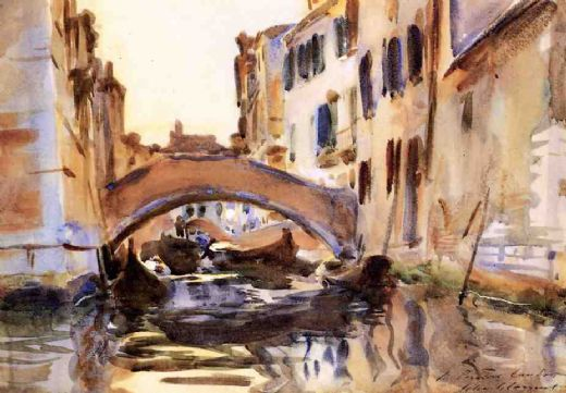 john singer sargent venetian canal painting