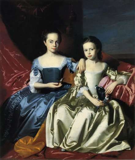 john singleton copley mary and elizabeth royall paintings