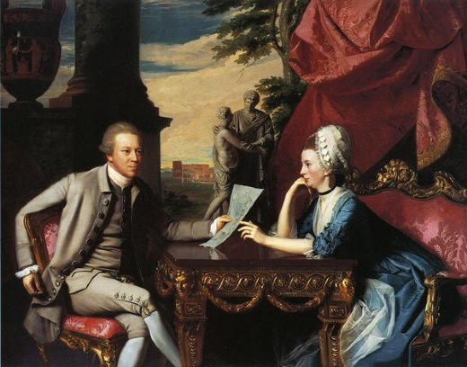 john singleton copley mr. and mrs. ralph izard alice delancey painting