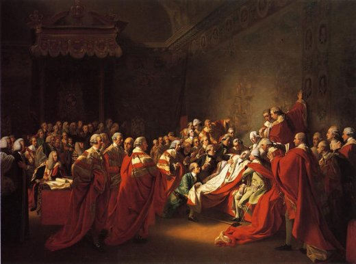 john singleton copley the colapse of the earl of chatham in the house of lords paintings