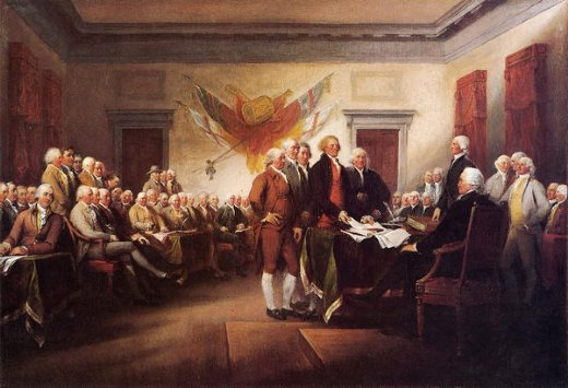 Drafting the Declaration of Independence Prints by Jean Leon