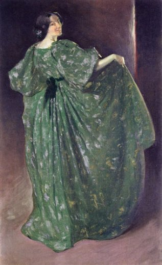 john white alexander green girl painting