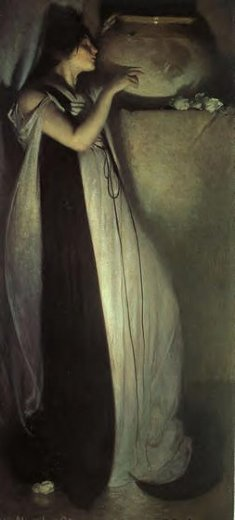 john white alexander isabella and the pot of basil painting