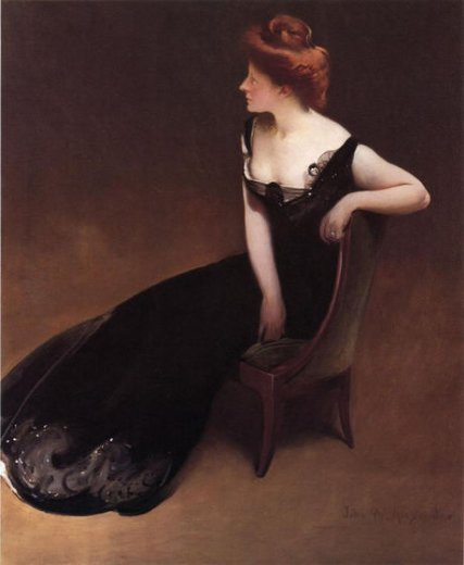 john white alexander portrait of mrs. v mrs. herman duryea painting