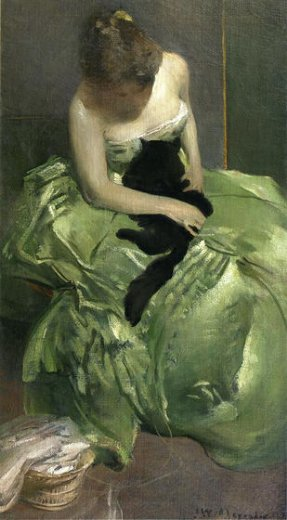 john white alexander the green dress paintings