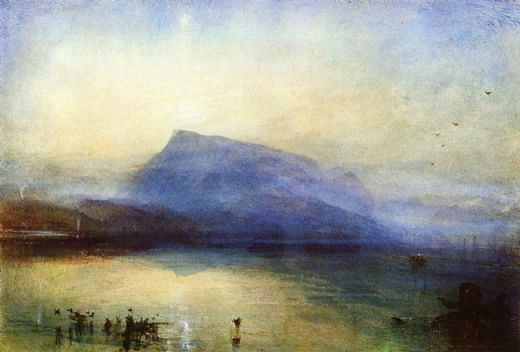 joseph mallord william turner the blue rigi lake of lucerne sunrise painting