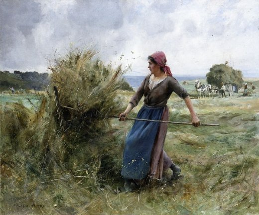 Shopping Julien Dupre Peasant With Hay Painting Amp Julien