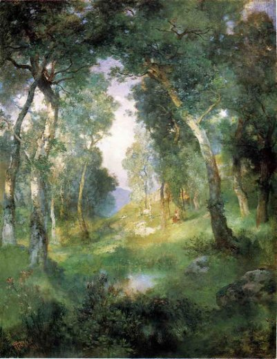 Subject forest glade santa Famous Forest Paintings