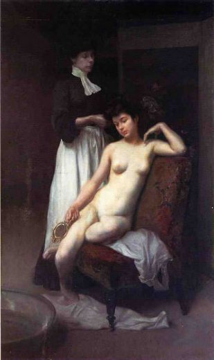 julius leblanc stewart la toilette paintings