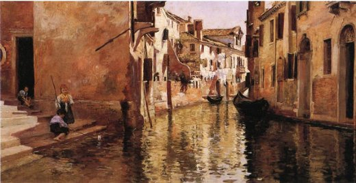 julius leblanc stewart the canal painting