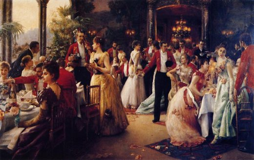 julius leblanc stewart the hunt supper paintings
