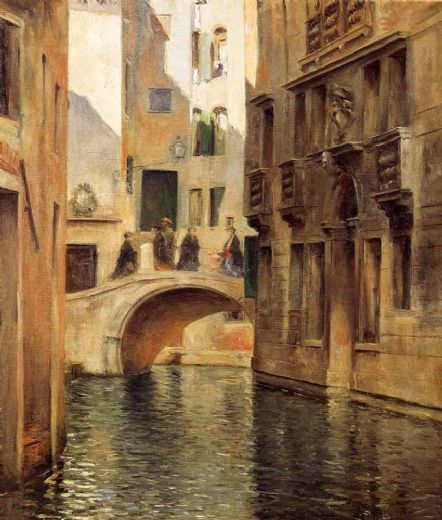 julius leblanc stewart venetian canal paintings