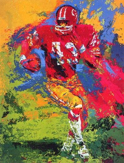 leroy neiman end around larry brown paintings