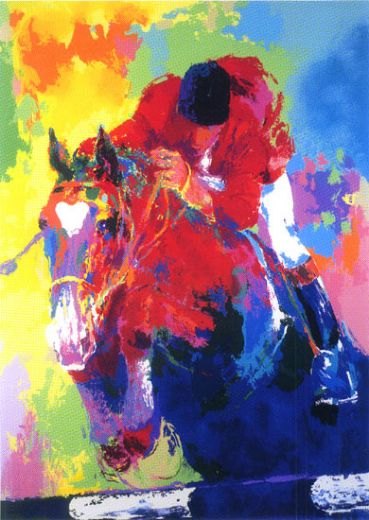 leroy neiman olympic jumper paintings