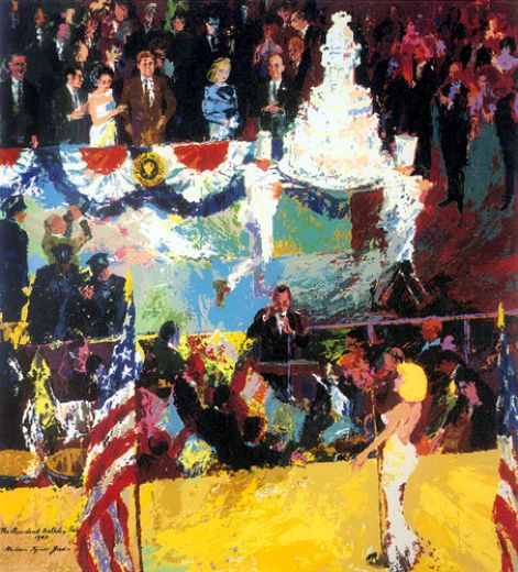 leroy neiman president s birthday party paintings