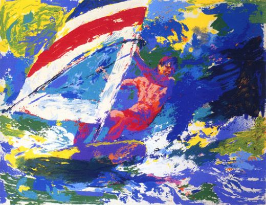 leroy neiman wind surfing painting
