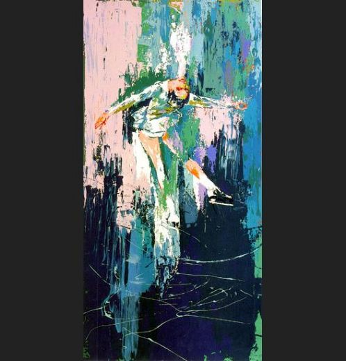 leroy neiman winter olympic skating painting