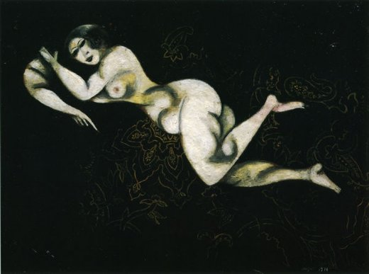 marc chagall nude lying down painting