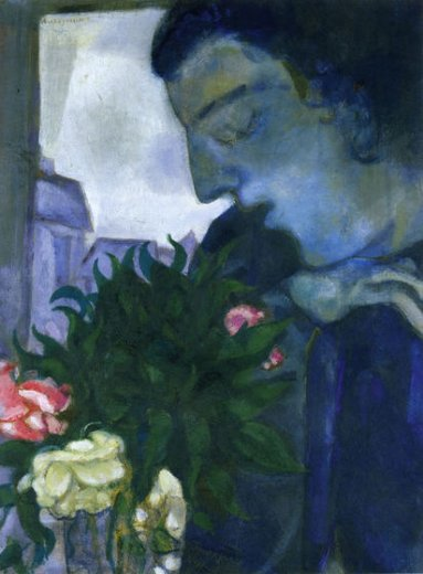 marc chagall self portrait in profile paintings