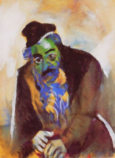 marc chagall the old jew paintings