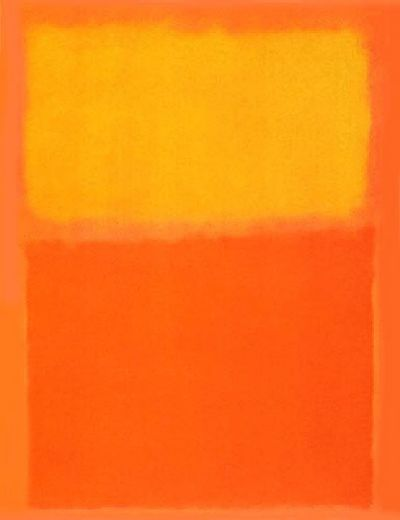 mark rothko orange and yellow painting