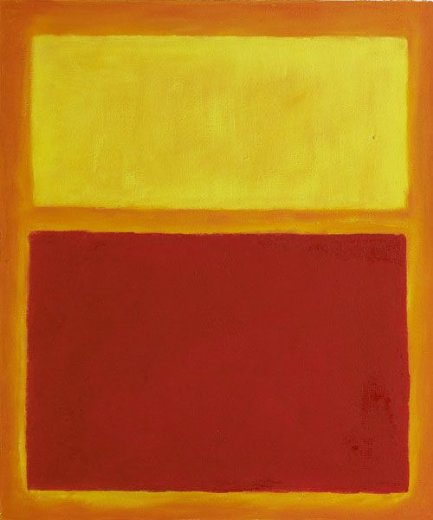 mark rothko orange and yellow paintings