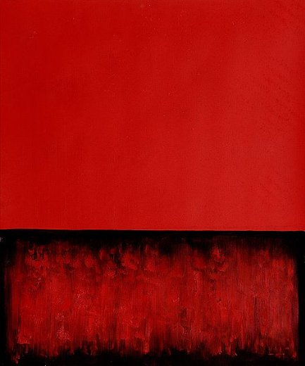 mark rothko untitled red and black painting