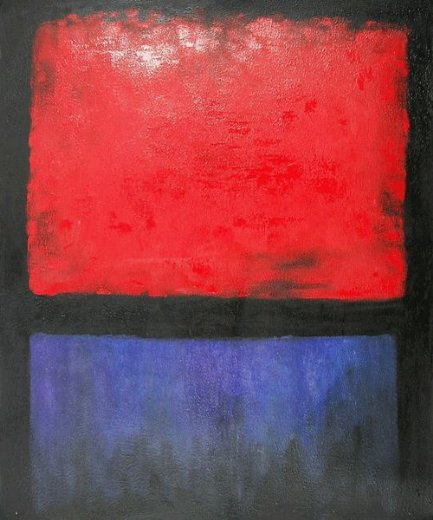 mark rothko untitled red blue over black painting