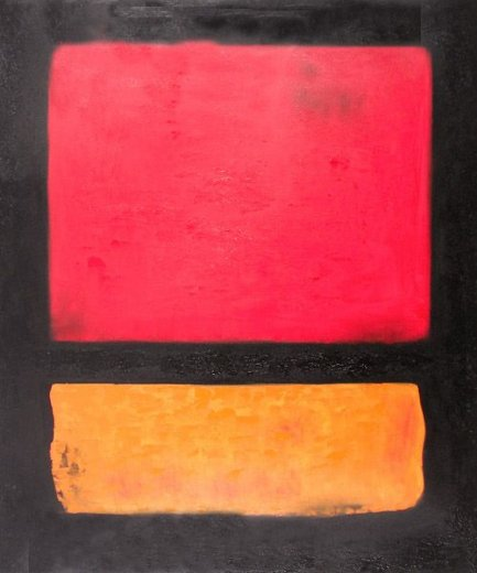 mark rothko untitled red orange over black painting