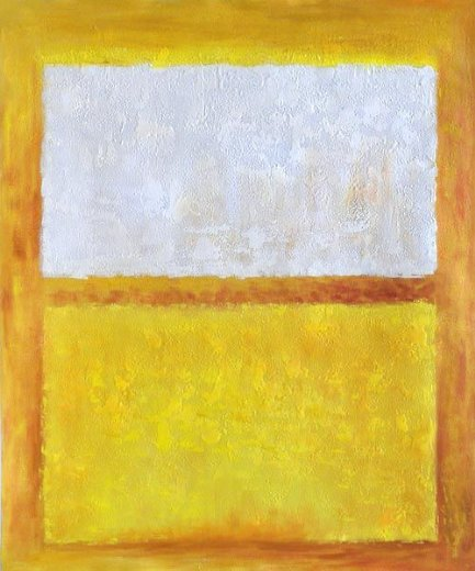 mark rothko untitled white orange and yellow painting