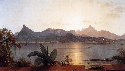martin johnson heade sunset harbor at rio painting