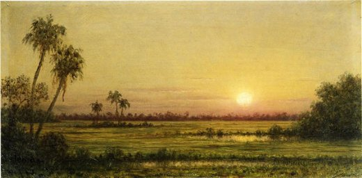 martin johnson heade sunset in florida painting
